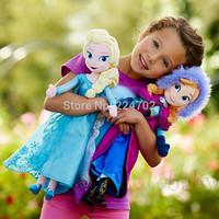 Free shipping Frozen Plush doll  50cm elsa & anna Frozen plush doll Toys Brinquedos Factory Price Kids Dollsfor Girls