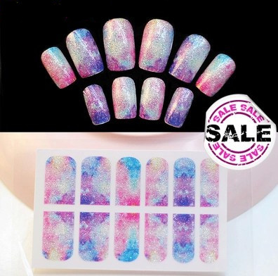 Japan gradient sky Manicure stickers color graded 12 sheets of stickersNail art tools nail products Hand makeup(China (Mainland))