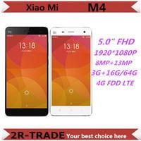 "Original Xiaomi Mi4 Quad Core Xiaomi M4 Mi4s Mobile Phone 5"" Qualcomm 801 1920X1080P JDI 3GB RAM 16GB 64GB ROM 8MP 13MP IR GPS"