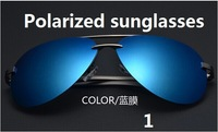 Wholesale-2014 new Style Brand man Driving mirror Polarized sunglasses rays aluminum alloy driver fishing glasses free shipping