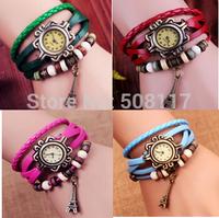 DHL free shipping to USA 60pcs/lot Best seller leather bracelet watch relogio feminino