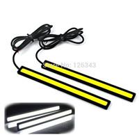 12V LED COB Car Auto DRL Driving Daytime Running Lamp Fog Light White 17cm Free Shipping 2pc/lot