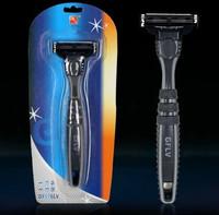 Free Shipping Men Gift Shaving & Hair Removal 3 Layers 1 Razor Blade and 1 Razor