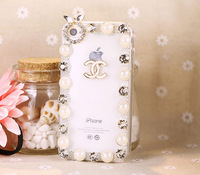 3D Bling Rhinestone Pearl Mobile phone Case for iPhone 4 4S 5S 5C Samsung S3/S4/S5/Note2/Note3/S3 mini i8190/S4 mini i9190 Case