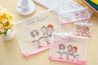 20 Pcs Wholesale Ballet Girl PVC Storage Mesh bag / A4 Grid File Document  Bag  pouch