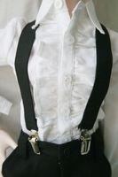 [wamami] 15# Black Braces/Belt 1/4 MSD DOD LUTS DZ BJD Dollfie