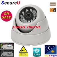 Free shipping CMOS 700TVL dome indoor use camera security system install surveillance digital video monitor thermal cctv camera