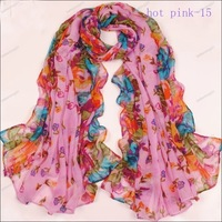 180x115cm Hot sale Korean Large Long Womens Ladys Girls Scarf Wrap Shawl rectangle flower scarf free shipping best gift