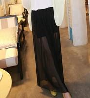 White gauze skirt Female bust skirt[240454]