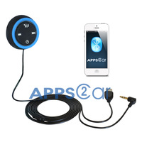 New Apps2car Bluetooth car hands-free kit  for smartphone with wireless connect AUX-in  Music
