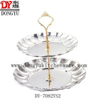 Factory Export High Quality Mirror Polished Two Layers Fruit Tray/ Gift Hotel Salad Trays on Sale