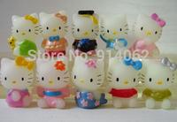 Free shipping 10pcs/set cartoon vinyl cat doll toys Fashion style  3.5*4.5 cm
