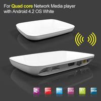 Quad Core Android 4.2 TV Box 8GB Smart Media Player 2GB DDR3 8GB Nandflash 1080P Bluetooth XBMC White