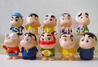 Free shipping 10pcs/set cartoon vinyl boy doll toys Fashion style  3.5*4.5 cm