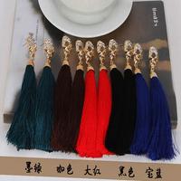 Newborn fashion stud earring skull diamond earrings female accessories tassel earrings hot-selling 14