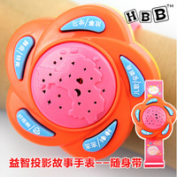 free shipping Baby lovely Flash puzzle watches projection multifunctional watches story machine