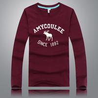 2014 new hot  fashion handsome shirt camisa masculina  camiseta  shirt camisetas masculinas pyrexabercr ombie men brandversa men
