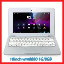 5pcs/lot Cheap 10inch Mini Laptop Notebook Computer webacm 512M 4G Via 8880 Android netbook laptops(China (Mainland))