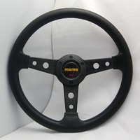 Free shipping New 320mm Racing Sport MOMO PU Steering Wheel 408 Universal with horn