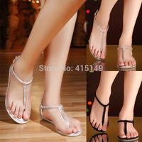 The new 2014 hot drilling leather diamond flat with herringbone clip toe shoes flat herringbone cool shoes