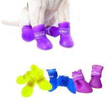 4pcs/set Dog's Shoes,Pet Shoes,Pet Boots Anti Slip Skid Waterproof Size S M L(China (Mainland))