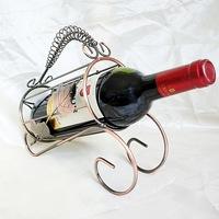 Fashion Home Decoration bronze bottle wine rack shelf Continental Iron