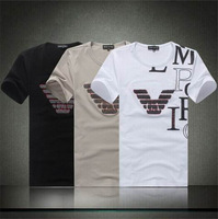 Free Shipping 2014 Hot-Selling New Arrival Fashion Brand Men's T Shirt  Summer Casual Cotton Men's Clothing
