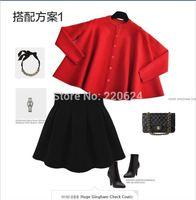 Free shipping 2014 women's cutout outerwear thin cape batwing sleeve shirt sweater cardigan 1699