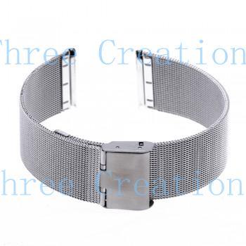 5 pcs 22 mm Unisex malha Steel Watch Strap banda pulseira fivela de prata moda SB0584(China (Mainland))