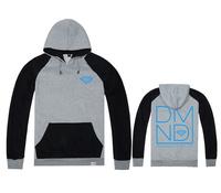 new Men's autumn or winter Hooded fleece Plus velvet Pullover sportswear Varsity Jacket diamond supply co baseball sweatshirt