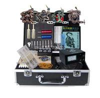 Professional Tattoo Supplies 4 machine set Starter Tatoo Kits Free Shipping