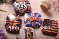 Free Shipping!12pc/lot Mini iron storage case Metal Pill box Jewelry storage case Classic Collection box Gift Case Mixed design