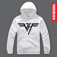 YAOCOK personality Pure cotton hooded hoodie Van Halen