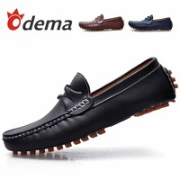 ODEMA  Men's Cacual Leather Boat Shoes Loafers Moccasins For Men Oxfords Sneakers Sapatos Hot Sale Brand Spring/Autumn Flats