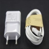 2A EU Plug Wall Charger + USB Data Cable For Samsung Galaxy S4 I9500 S3 I9300 S2 Note2 N7100 N9006 Cargador Chargeur