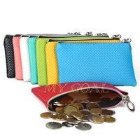 Card Coin Holder Money PU Leather Wallet Zipper Mobile Phone Bag Purse Handbag