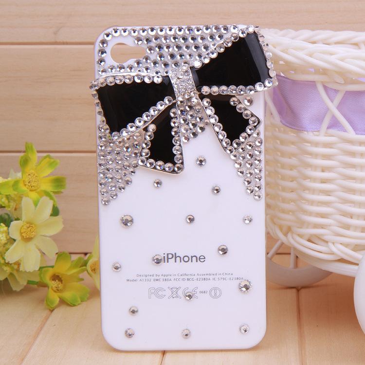 cas strass pour apple phon 4 4s 5 5s 5c new arc diamant dur retour shell téléphone mobile de protection