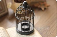 Free Shipping!Classic Black color Iron Candle Holder Weddings lantern Round Bird cage shape Candle holder Wedding Decoration