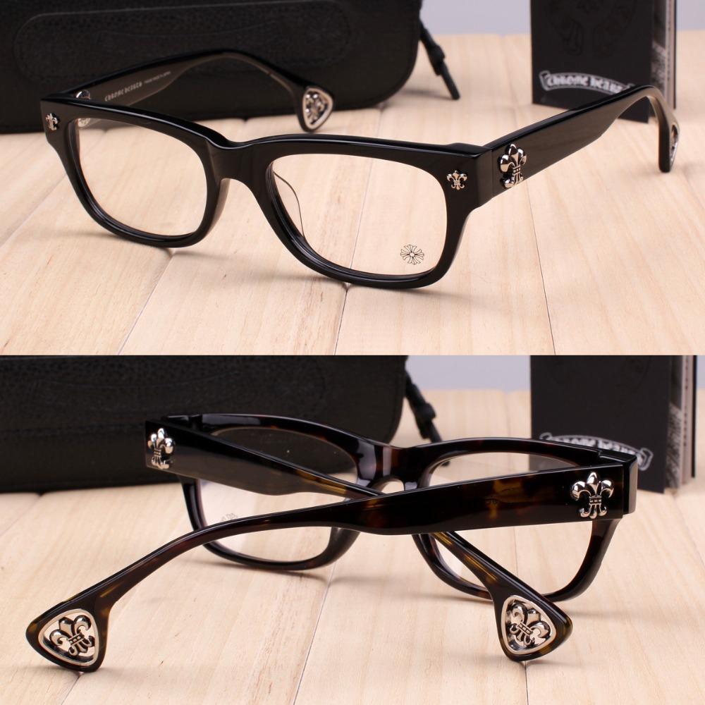 Silver jewelery Hearts brand FILLED Silver Vintage men and women handmaker Acetate optical eyeglasses glasses frame(China (Mainland))