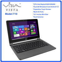 Very portable 10.1inch Mini laptop Computer Intel N2806 2G 64G SSD Win 8 Touch Screen Computer