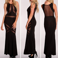 2014 Freeshipping Full Sale Party Dresses Vestido De Festa Summer Dress New Women Sexy Panel Evening Long Bandage Prom Maxi 4088
