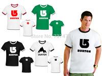 Hot Sale Summer Casual BURTON Men T Shirts Cotton O Neck Short Sleeve Man Ringer Tees Free Shipping