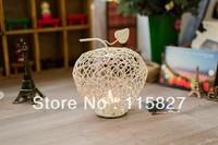 Free Shipping!New  design Candle Holder Apple shape Metal Lantern Wedding decoration Metal Candle Holder Christmas Gift