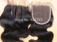 Lace Closure Bleached Knots PansyHair 3 Part middle part free part closure 3 Way hair Closure Peruvian Virgin Hair Closure Tops