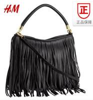 hm h&m 2014 women's handbag fashion tassel faux leather shoulder bag handbag messenger bag