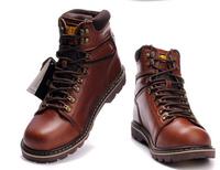 New 2014 Brand Men Designer Shoes Men's Winter Ankle Boots 100% Genuine Leather Boots Big Size Waterproof Rubber Platform Boots