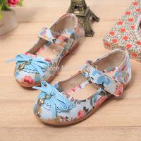 2014 Fashion Girls Flower decorate Canvas Casual Shoes Cute Children's Shoes Soft bottom  Princess Shoes Spring Autumn 26-30