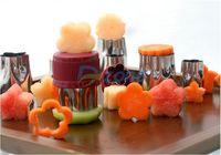 8Pcs/Set Flower Star Shape Vegetable Fruit Cutter Mold Slicer Stainless Steel#58152