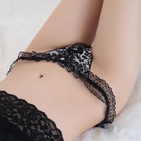 Sexy Thongs V G String Women T Back Panties Leopard Underwear Lace Rim W1520