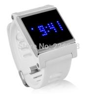 Blue Elite LED Touch Screen Wrist Watch White